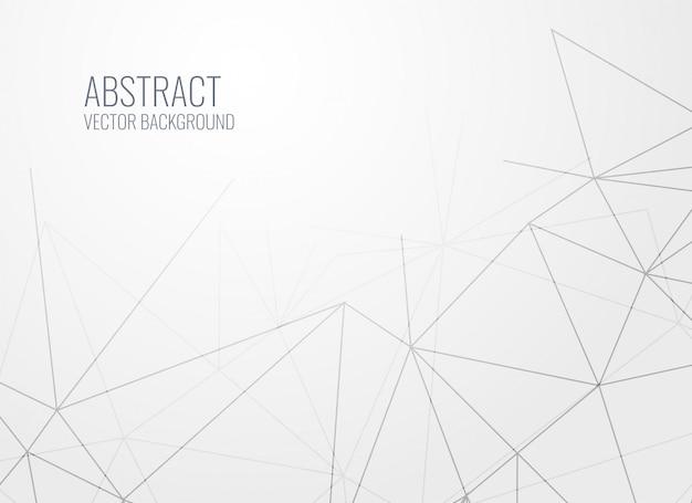 Fundo de linhas geométricas modernas branco cinza