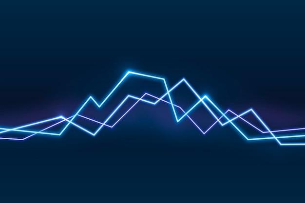 Fundo de linhas gráficas em azul néon