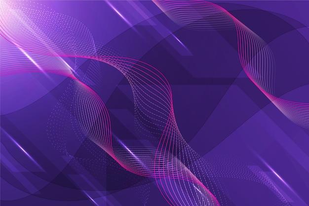 Fundo de linhas onduladas de tecnologia gradiente