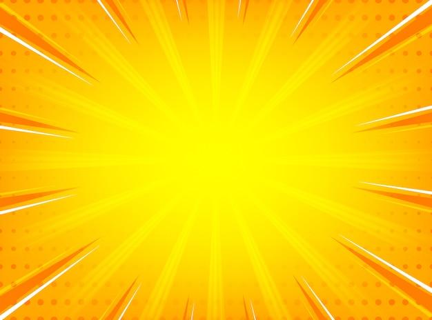 Fundo de linhas radiais do sunburst em quadrinhos abstrato