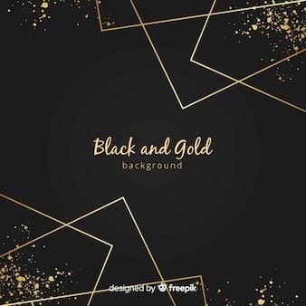Fundo de linhas retas douradas