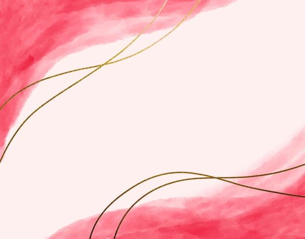 Fundo de linhas rosa e dourado
