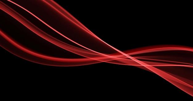 Fundo de linhas vermelhas abstratas fluxo dinâmico de onda visualização de movimento ilustração mágica do vetor