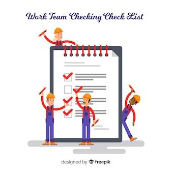 Fundo de lista de verificação de equipe de trabalho