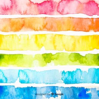 Fundo de listras coloridas em aquarela