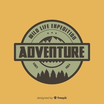 Fundo de logotipo de aventura vintage