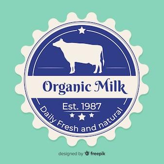 Fundo de logotipo leite orgânico