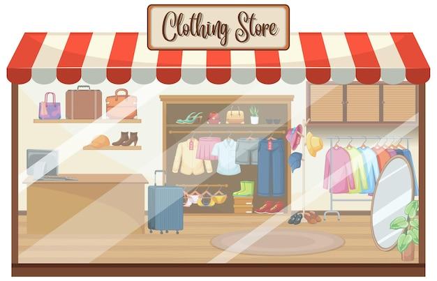 Fundo de loja de roupas da moda