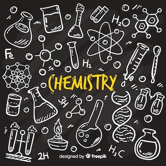 Fundo de lousa com informações de química
