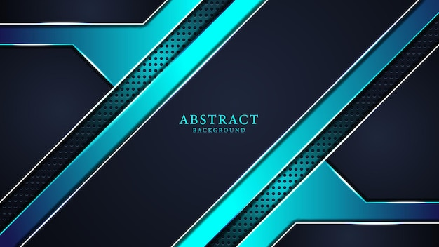 Fundo de luxo abstrato azul com padrões e formas criativos