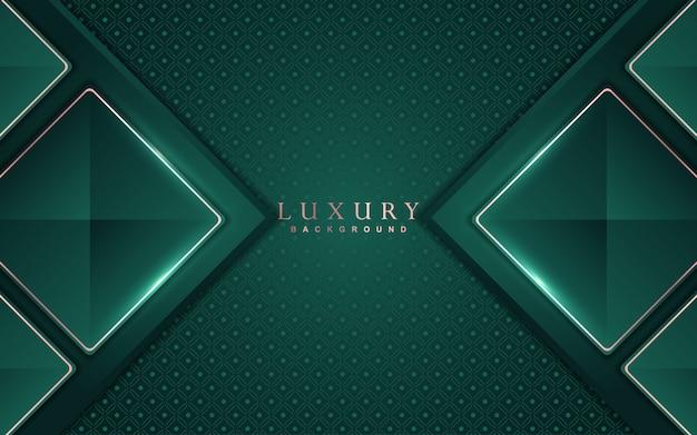 Fundo de luxo abstrato com decoração de elemento de ouro verde e rosa