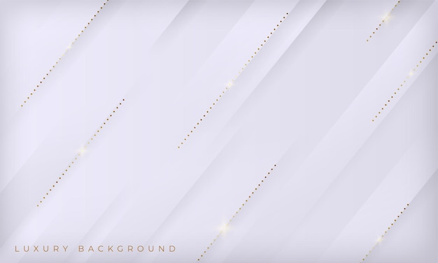 Fundo de luxo abstrato com linhas brancas e douradas