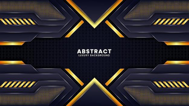 Fundo de luxo abstrato futurista com combinação de linhas de pontos de luz brilhantes vetor premium