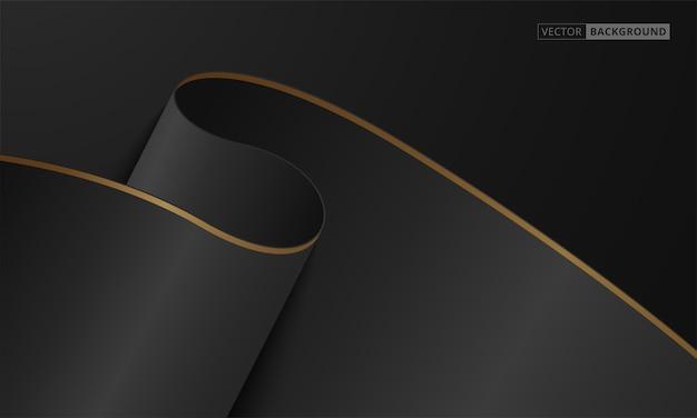 Fundo de luxo abstrato preto e dourado Vetor grátis