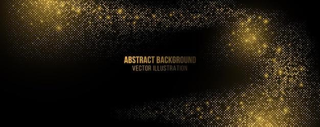 Fundo de luxo abstrato. textura de pontos brilhantes dourados. Vetor Premium