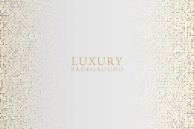 Fundo de luxo branco abstrato moderno com glitter dourado