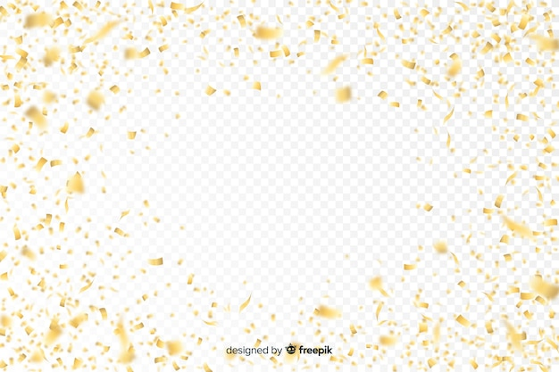 Fundo de luxo com confete dourado