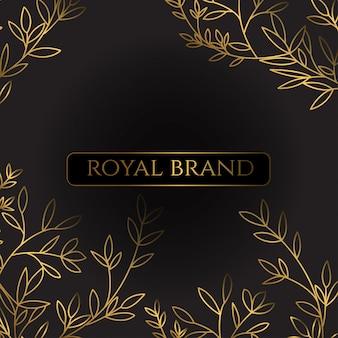 Fundo de luxo com cor de ouro