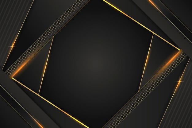 Fundo de luxo com detalhes dourados abstratos