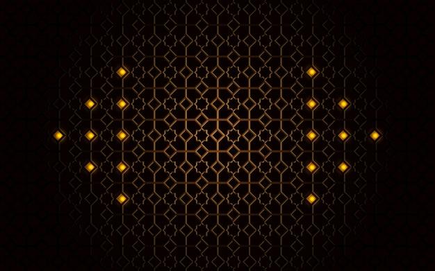 Fundo de luxo com forma abstrata dourada