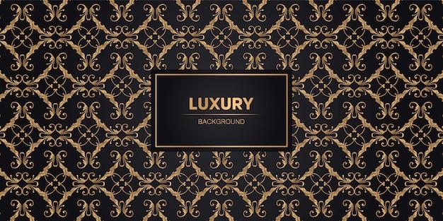 Fundo de luxo com formas geométricas douradas