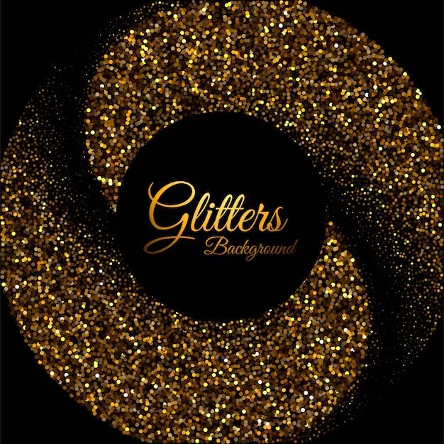 Fundo de luxo com fundo de partículas douradas
