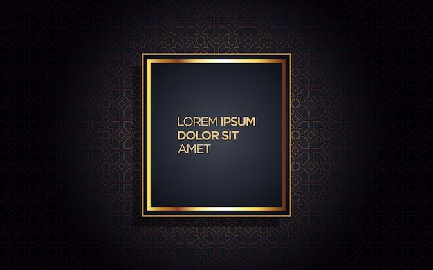 Fundo de luxo com moldura dourada e desenho abstrato