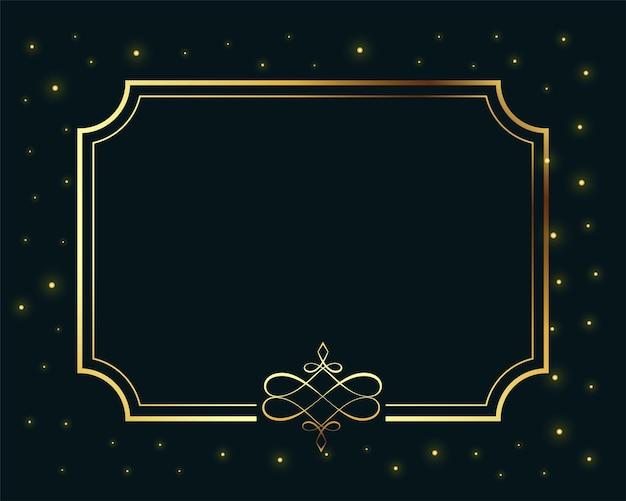 Fundo de luxo com moldura dourada real com espaço de texto