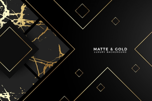 Fundo de luxo de mármore preto fosco de ouro