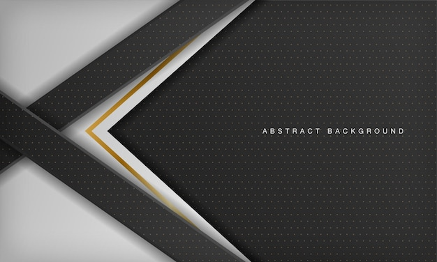 Fundo de luxo diagonal preto e branco com elemento dourado