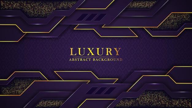 Fundo de luxo dourado moderno abstrato com padrão e formas geométricas