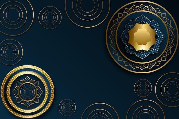 Fundo de luxo dourado realista