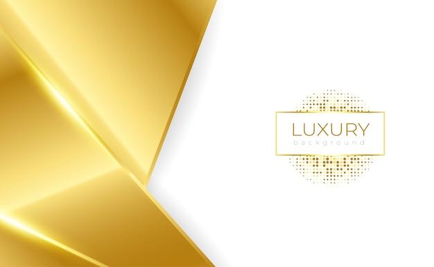 Fundo de luxo geométrico de ouro branco simples com brilho