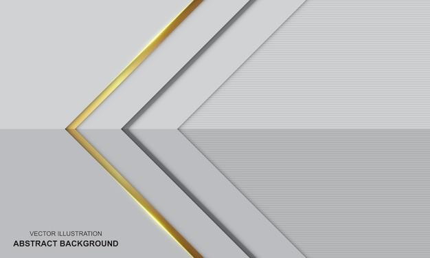 Fundo de luxo moderno abstrato branco e dourado
