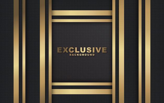 Fundo de luxo moderno de dourado e preto