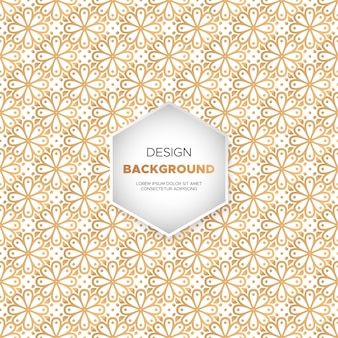 Fundo de luxo ornamental mandala design na cor do ouro