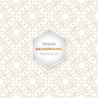Fundo de luxo ornamental mandala design na cor do ouro