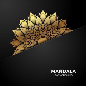 Fundo de luxo ouro mandala