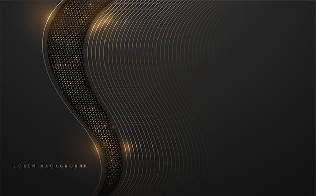Fundo de luxo preto e dourado