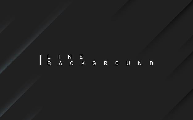 Fundo de luxo preto escuro. abstrato de linha diagonal premium com sombra dinâmica. .