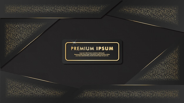Fundo de luxo preto-ouro