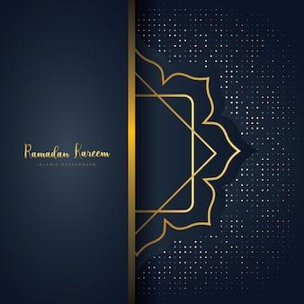 Fundo de luxo ramadan kareem