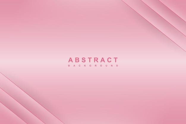 Fundo de luxo rosa elegante com linha diagonal e sombra