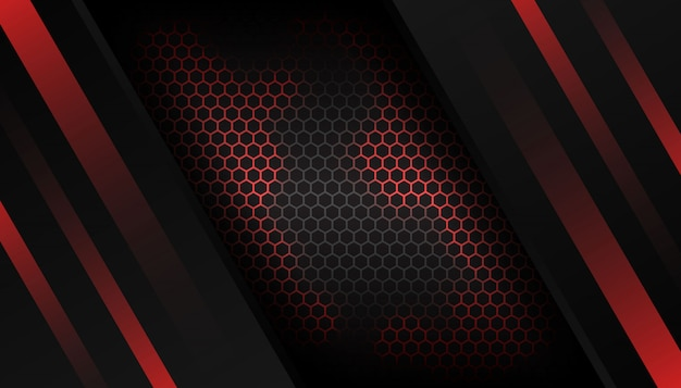 Fundo de luxo vermelho hexágono