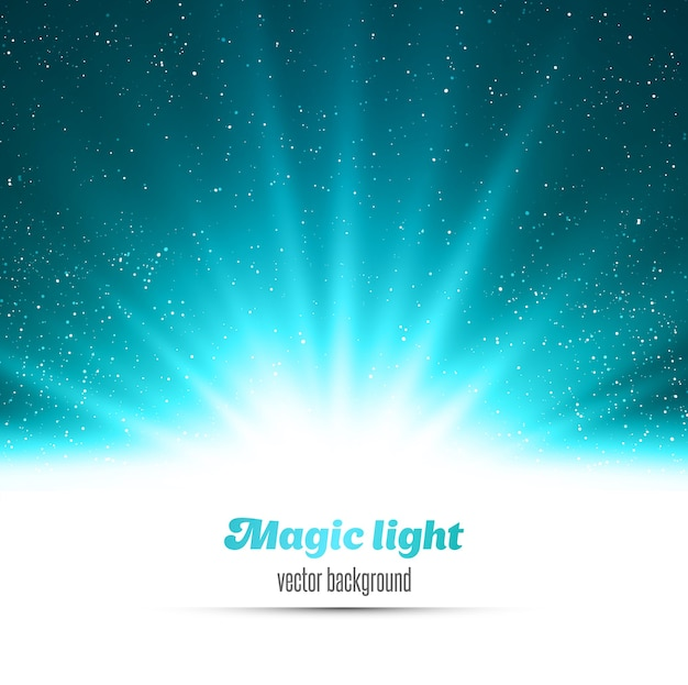 Fundo de luz azul mágico abstrato