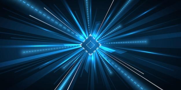 Fundo de luz de movimento de velocidade de aceleração