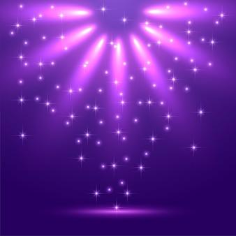Fundo de luz mágico abstrato