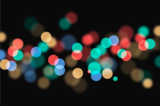 Fundo de luzes coloridas bokeh