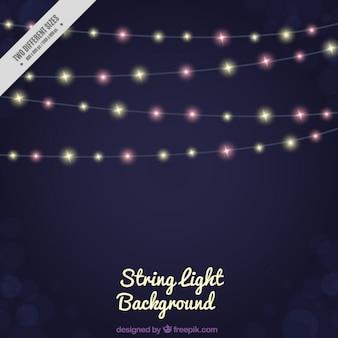 Fundo de luzes de corda elegante