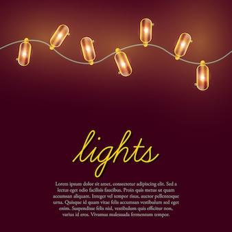 Fundo de luzes de natal.